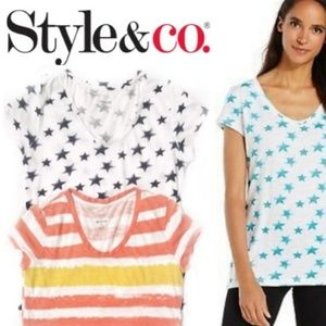 BUNDLE! Style & Co Essential T-Shirts Stars s12